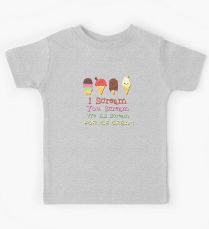 Simply Delicious Ice Cream Art Kids Tee