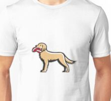 English Setter Dog Deflated Volleyball Circle Retro Unisex T-Shirt