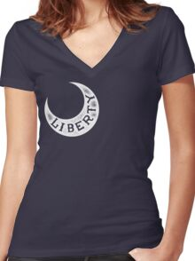 Moultrie Liberty Flag Women's Fitted V-Neck T-Shirt