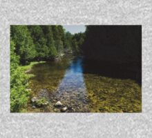 Soft Flow - Sunny River in the Forest Baby Tee