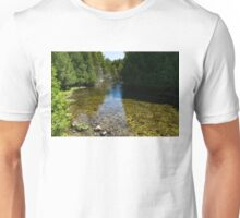 Soft Flow - Sunny River in the Forest Unisex T-Shirt