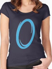 Blue portal Women's Fitted Scoop T-Shirt