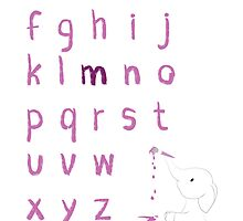 Nursery Personalised Alphabet by Lyndsey Fletcher