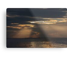 Light Rays over the sea at Farne Metal Print