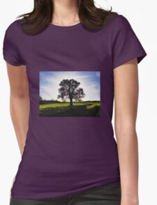 Backlit Tree Womens Fitted T-Shirt