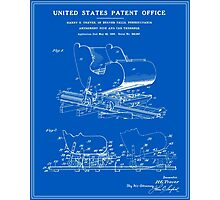 Roller Coaster Patent - Blueprint Photographic Print