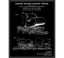 Roller Coaster Patent - Black Photographic Print