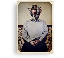 Still Life with The Faceless Man Canvas Print