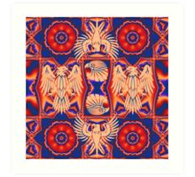 Cool Eagles and Patterns Art Print