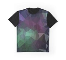 Green and Purple Abstract Crystalline Fractal  Graphic T-Shirt