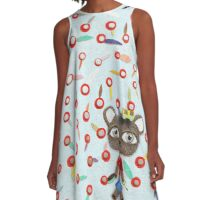 Teddy Bear Landscape A-Line Dress