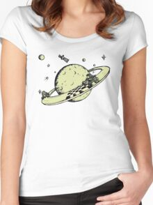 Space race v2 Women's Fitted Scoop T-Shirt