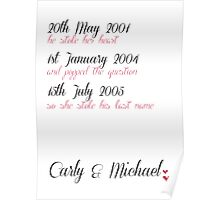 Personalised Marriage Print Poster