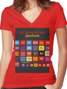 Chocolate Bar Table Women's Fitted V-Neck T-Shirt