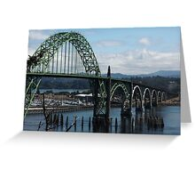 The Bridges Of Oregon's Coast - The Alsea Bay Bridge ©  Greeting Card