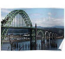 The Bridges Of Oregon's Coast - The Alsea Bay Bridge ©  Poster