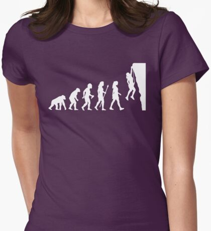 Cool Women's Rock Climbing  Womens Fitted T-Shirt