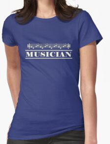 Musician (White) Womens Fitted T-Shirt
