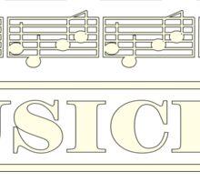 Musician (White) Sticker
