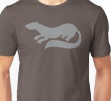 grey ferret shape Unisex T-Shirt