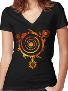New Born Sun Women's Fitted V-Neck T-Shirt