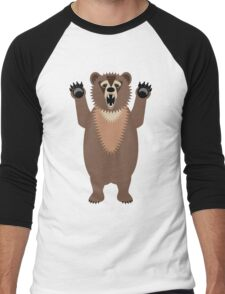 Bear Says Boo Men's Baseball ¾ T-Shirt