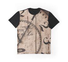 Fleur de Lis Clock face Graphic T-Shirt
