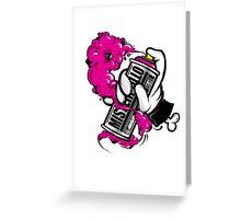 spray pink Greeting Card