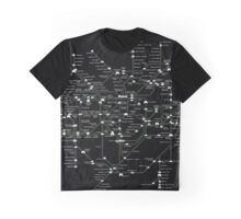 Tube Map as Space Invaders Graphic T-Shirt