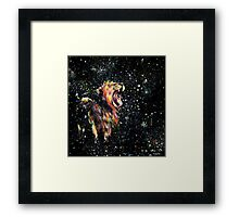 the lion sleeps no more Framed Print