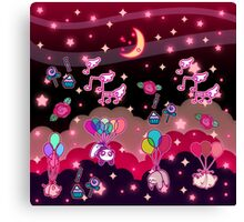 Animals Balloons and Night Sky Canvas Print
