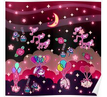 Animals Balloons and Night Sky Poster