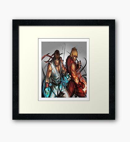 Street Fighter | Ryu x Ken Framed Print