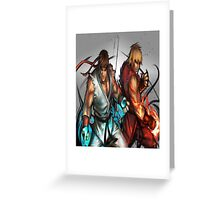 Street Fighter | Ryu x Ken Greeting Card