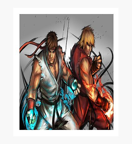 Street Fighter | Ryu x Ken Photographic Print