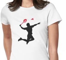 Badminton player Womens Fitted T-Shirt