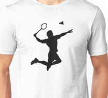Badminton player jump Unisex T-Shirt