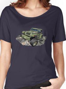 Cartoon military 4x4 car Women's Relaxed Fit T-Shirt