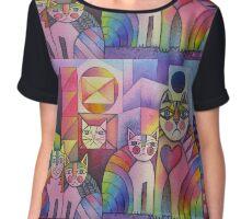 Rainbow City Cats Women's Chiffon Top