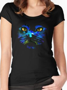 Cat's Face - version III Women's Fitted Scoop T-Shirt