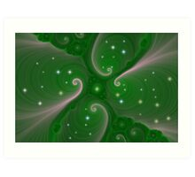 Starry Green Art Print