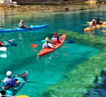Kayaking over a sunken harbor - Lycia, Turkey Sticker