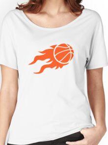 Basketball fire Women's Relaxed Fit T-Shirt
