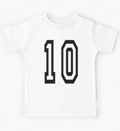 10, TEAM SPORTS NUMBER, TEN, TENTH, Competition Kids Tee