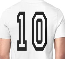 10, TEAM SPORTS NUMBER, TEN, TENTH, Competition Unisex T-Shirt