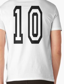10, TEAM SPORTS NUMBER, TEN, TENTH, Competition Mens V-Neck T-Shirt