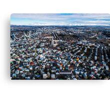 Iceland, Reykjavik, Landscape  Canvas Print