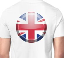 BRITISH, Union Jack, Button, Circle, British Flag, UK, United Kingdom, Pure & simple Unisex T-Shirt