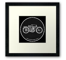 Harley Davidson Model 10B 1914, motorcycle Framed Print