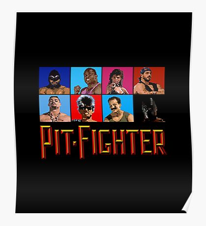 PIT FIGHTER - BAD GUYS - ARCADE GAME Poster